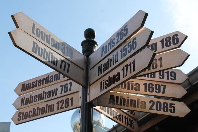 Pra onde Ir? (Foto do Mini Europe em Bruxelas)